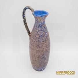 Iparművészeti kerámia - Kék-lila füles váza