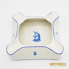 Porcelán, kerámia - Unikornis hamutartó