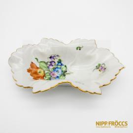 Herendi porcelán - Levél alakú kínáló