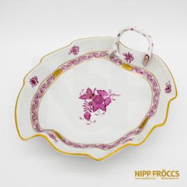 Herendi porcelán - Apponyi mintás levél alakú kínáló