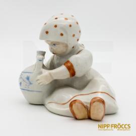 Zsolnay porcelán - Annuska korsóval