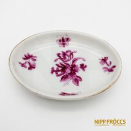 Herendi porcelán - Virág mintás gyűrű tartó tálka