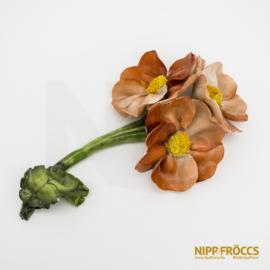 Herendi porcelán - Virág három fejjel
