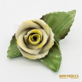 Herendi porcelán - Sárga rózsa