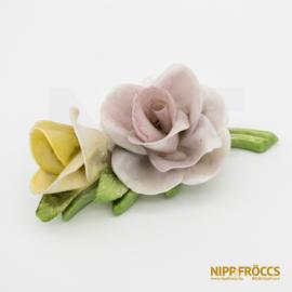 Porcelán, kerámia - Két fejű rózsa